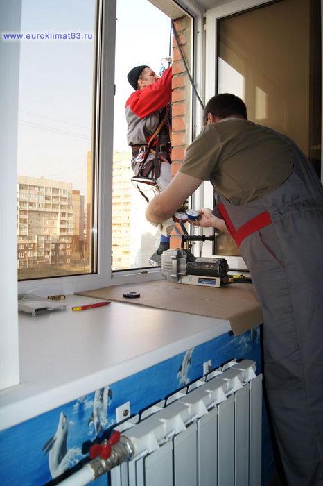 Монтаж и установка  сплит системы 107